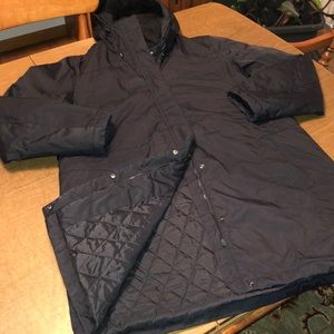 LL BEAN Navy Winter Warmer Jacket Coat Miss XL